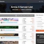 arma 3 server list screen - Arma 3