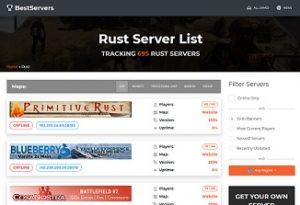 rust server list screenshot - Rust