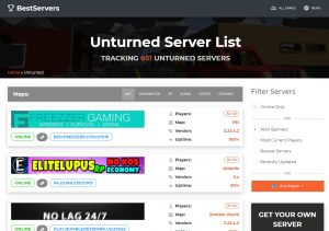 unturned server list screen - Unturned
